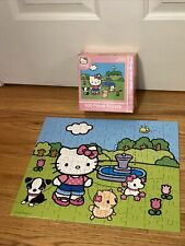 "Hello Kitty Jigsaw Puzzle 100 Pieces 12.5""x15"" Dog Walking Sanrio Pressman 2006"