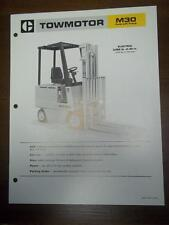 Caterpillar Lift Truck Brochure~M30 Electric Fork Lift~Specifications/Data Sheet