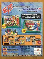 2000 EB GAMES Paper Mario / Pokemon Stadium 2! Vintage Print Ad/Poster Official