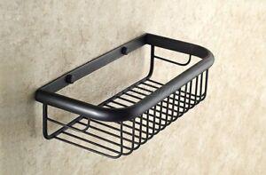 Oil Rubbed Bronze Kitchen Bathroom Shower Shelf Wall Storage Basket Rack eba522