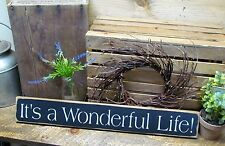 Wooden Sign, It's A Wonderful Life, Christmas Sign, Winter Decor, Inspirational