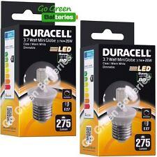 2x Duracell E27 3.7 (= 26 W)Watt Mini Globe LED Screw Bulb 275 Lumens Warm White