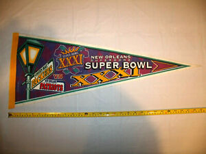 Super Bowl XXXI 1997 Full Size Pennant Green Bay Packers New England Patriots