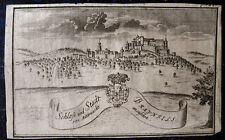BRAUNFELS. Originaler seltener Kupferstich; aus DIELHEIM, ca. 1740.