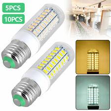 5/10PCS E27 LED Light 72 LEDS Corn Bulb Cool/Warm White Bright LED Lamp 110V 5W