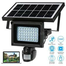 Solar Floodlight Street Light IR-CUT 720P HD DVR CCTV Security Camera EU F8F9