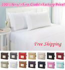 Comfort 1800 Count 4 Piece Solid Soft Bed Sheet Set KING ~ QUEEN ~ FULL ~TWIN