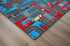 carsteppich CARS Tapis ROUTIER GRIS VELOURS NEUF 70x140cm Disney