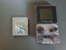 Nintendo Game Boy Color Violett Handheld-Spielkonsole + Pokemon Silber *Top*
