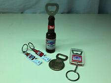 Bottle Opener Key Chain LOT Budweiser Coors Light Molson Canadian Warsteiner