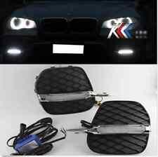 For 2011-2013 BMW E70 X5 Bumper Bolt-On 2x White LED Daytime Day Fog Light DRL
