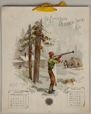 Rare Antique 1897 Boston Rubber Shoe Co. Adv. Complete Calendar New England Life