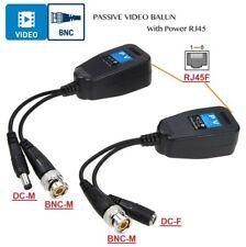 1pair 2pcs CCTV Coax BNC Video Power Balun Transceiver to CAT5e 6 RJ45 Connector