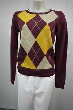 3 Suisses Collection Strick Pullover M m.Wolle Bordeaux  Glitzerfäden TOP