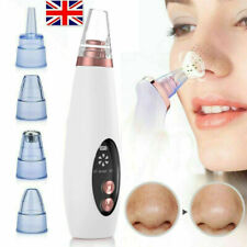 Electric Facial Skin Care Pore Blackhead Remover Cleaner Vacuum Acne Cleanser UK