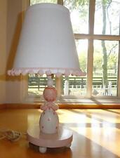 Vtg~IRMI~Nursery Rhyme~Baby~Child~Wood~Wooden~Lamp~Pink~Praying Girl~Shade Incl.