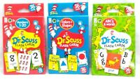 LANGUAGE Flash Cards DR SEUSS Lot of 3 Learning sets - Numbers Colors ABC Words