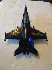 "Blue Angels US Navy Die-cast Plane Airplane 9.25"" Pull Back Toy Fighter Jet"