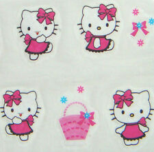 Nail Art Water Transfer Sticker Pink Dress Hello Kitty Bow Basket 20 pcs/sheet