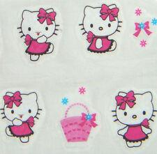 Nail Art Water Transfer Sticker Pink Dress Hello Kitty Bow Basket 20 pcs/sheet