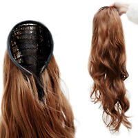 EG_ New Women's Sexy Stylish Curly Wavy Half-head Hair Band Hair Extension Natur