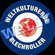 Vespa Lambretta Roller Scooter Sticker Weltkulturerbe Blechroller