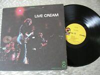 "Cream – ""Live Cream""   Vintage Vinyl LP  ATCO Records – SD 33-328"
