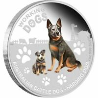 2011 Working Dogs, Cattle Dog Herding, 1oz Silver Proof Coin, RARE