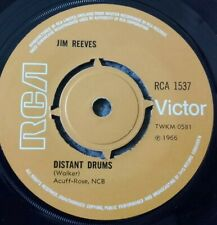 "JIM REEVES - DISTANT DRUMS -  7"" Vinyl 45 RPM RCA 1537 ORANGE LABEL"
