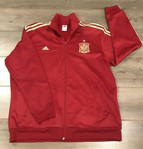 Spain RFCF National Soccer Team Adidas Red Track Jacket Full Zip - Size 2XL XXL