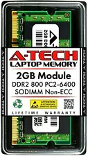A-Tech 2GB PC2-6400 Laptop SODIMM DDR2 800 MHz 200-Pin Notebook Memory RAM 1x 2G