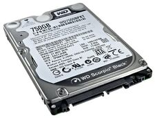 "WD 750 GB SATA 7200 RPM BLACK Western Digital 2.5"" Notebook Laptop Hard Drive"