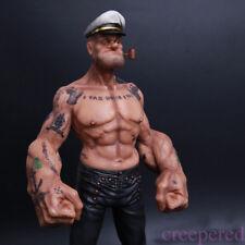 "12"" Popeye 1/6 FIGURE The Sailor Resin Statue Realistic TATTOO BODY Model"