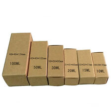 50/200X Kraft Paper Box Lipstick Perfume Essential Oil Cosmetics Packaging Boxes