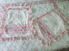 Sheridan Vintage 80s Supercale Pink Beige Floral Double Quilt Cover Pillow Slips