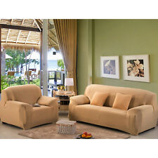 New Slipcover Home Decor Living Room Sofa Cover Love seat Beige Strech Washable