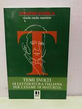 Temi svolti di letteratura italiana per l'esame di maturità. Utility Book