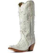 Ariat Women's Pearl Snow White Western Boot - Snip Toe - 10031549