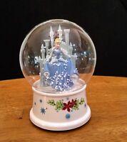 Disney Cinderella & Castle Musical Snowglobe-Gemmy-No Water-Air Flakes-Exc.