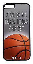 Basketball Case for iPhone 6 Plus 5 5s 5c 4s Christian Bible verse Black Cover