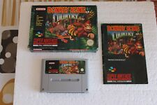SNES DONKEY KONG COUNTRY COMPLETE GAME 100% ORIGINAL