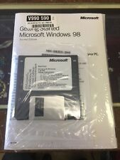 Microsoft Windows 98 SE SEALED CD & Floppy w KEY Full Install SECOND EDITION