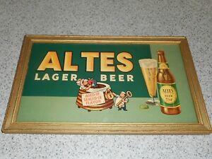 Vintage 30S-40S ABC Altes Lager Beer Cardboard Sign