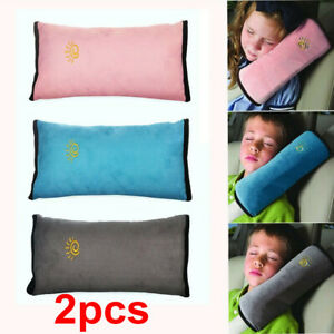 2X Car Safety Seat Belt Pillow Shoulder Strap Pad Cushions Head Supports Kids UK