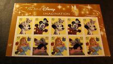 US Stamp Scott# 4345a Art of Disney  2008  Blk of 10 W/P# Top Label  MNH BKL24