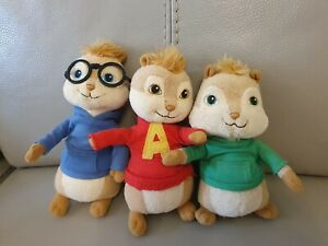 Alvin and the chipmunks soft toys