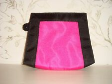 Brand New Authentic YSL Cosmetics Pouch Make-up Evening Bag Classic Black & Pink