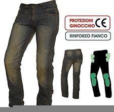 A-pro Jeans da Moto con protezione CE colore Blu 32