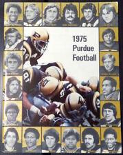 1975 PURDUE FOOTBALL Guide Book