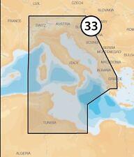 Navionics platinum + XL3 33P+ msd carte méditerranée centrale tableau